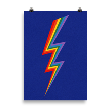 Load image into Gallery viewer, Poster Art Print Illustration – Lightning Rainbow