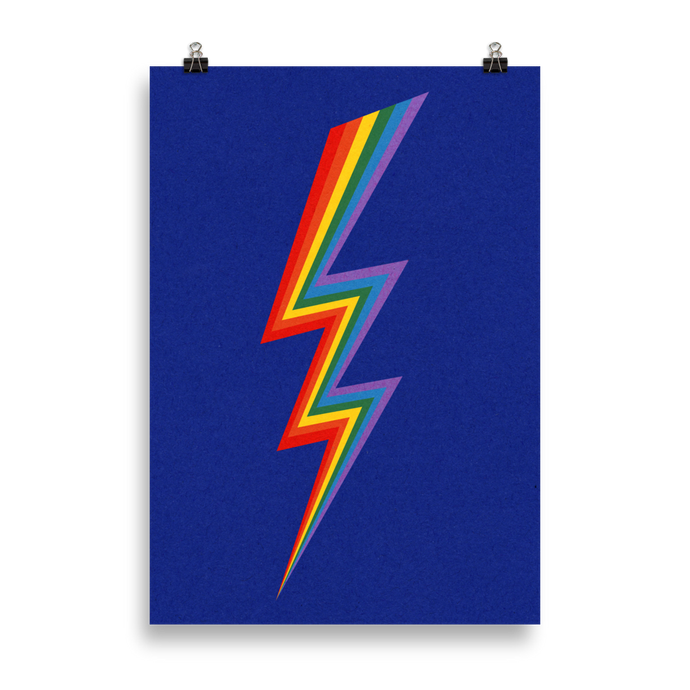 Poster Art Print Illustration – Lightning Rainbow