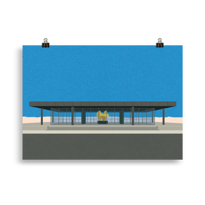 Poster Art Print Illustration – Neue Nationalgalerie