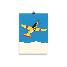 Load image into Gallery viewer, Poster Art Print Illustration – Aircraft Over The Clouds