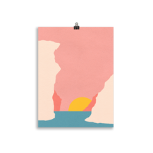 Load image into Gallery viewer, Poster Art Print Illustration – Sunset Of Crete