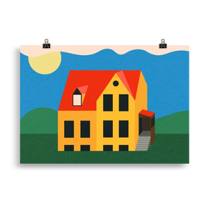 Poster Art Print Illustration – Not My House Anymore