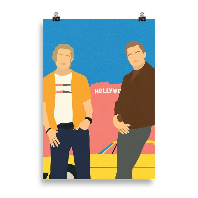 Poster Art Print Illustration – Cliff And Rick