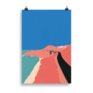 Poster Art Print Illustration – Pacific Coast Highway Big Sur
