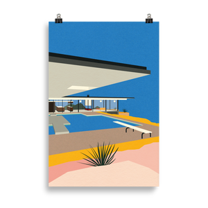 Poster Art Print Illustration – LA Stahl House