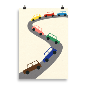 Poster Art Print Illustration – Traffic