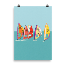 Load image into Gallery viewer, Poster Art Print Illustration – Baltic Sea Windsurfing