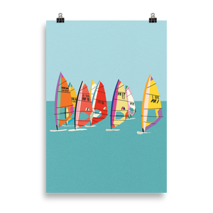 Poster Art Print Illustration – Baltic Sea Windsurfing