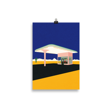 Load image into Gallery viewer, Poster Art Print Illustration – Texas Desert Gas Station