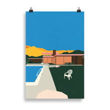 Load image into Gallery viewer, Poster Art Print Illustration – Kaufmann Desert House Poolside