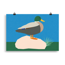 Load image into Gallery viewer, Poster Art Print Illustration – Duck Pola