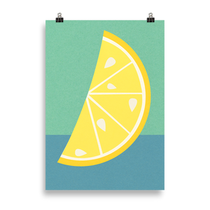 Poster Art Print Illustration – Lemon Slice