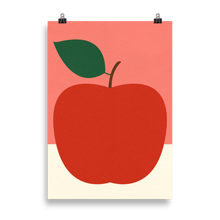 Load image into Gallery viewer, Poster Art Print Illustration – Red Apple