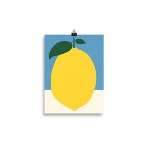 Poster Art Print Illustration – Lemon