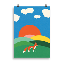 Load image into Gallery viewer, Poster Art Print Illustration – Fox on the field