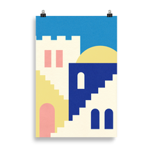 Load image into Gallery viewer, Poster Art Print Illustration – Houses And Stairs Of Rabat
