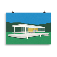 Load image into Gallery viewer, Poster Art Print Illustration – Ludwig Mies van der Rohe Farnsworth House