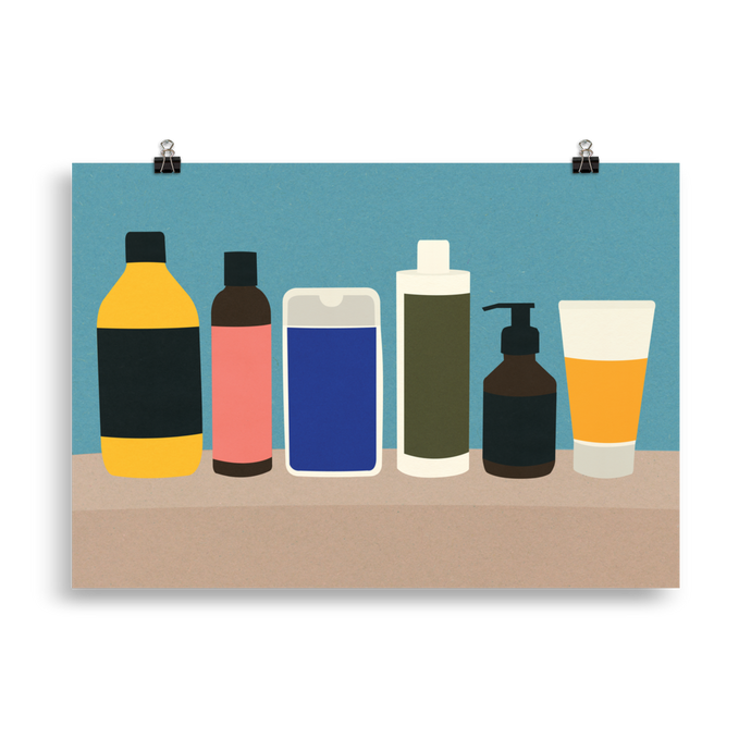 Poster Art Print Illustration – Plastic Bottles