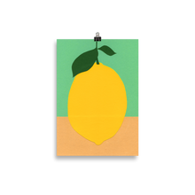 Load image into Gallery viewer, Poster Art Print Illustration – Lemon With Two Leaves