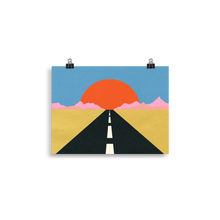 Load image into Gallery viewer, Poster Art Print Illustration – Road To Sun