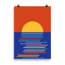 Load image into Gallery viewer, Poster Art Print Illustration – Sunset Sicily