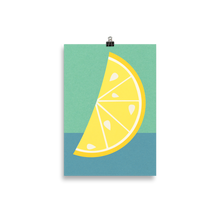Load image into Gallery viewer, Poster Art Print Illustration – Lemon Slice