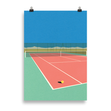 Load image into Gallery viewer, Poster Art Print Illustration – Tennis Court In The Desert
