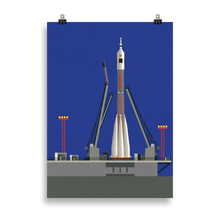 Load image into Gallery viewer, Poster Art Print Illustration – Sojus-U 31 Baikonur
