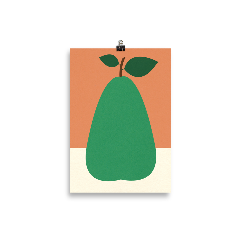 Poster Art Print Illustration – Pear