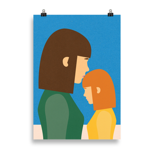 Poster Art Print Illustration – Mum And Daughter II