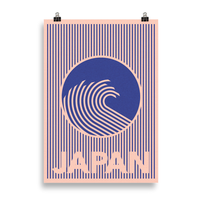 Poster Art Print Illustration – The Great Wave Of Japan