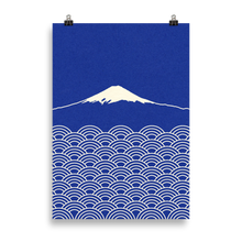 Load image into Gallery viewer, Poster Art Print Illustration – Waves And Fuji San