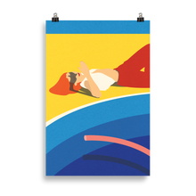 Load image into Gallery viewer, Poster Art Print Illustration – Viktoria at the pool