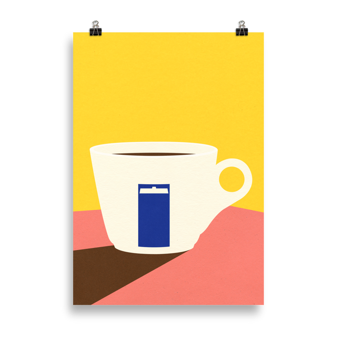 Poster Art Print Illustration – Cup of espresso