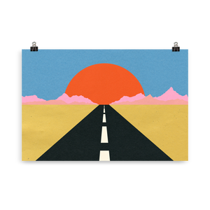 Poster Art Print Illustration – Road To Sun