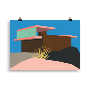 Poster Art Print Illustration – Kaufmann Desert House Palm Springs