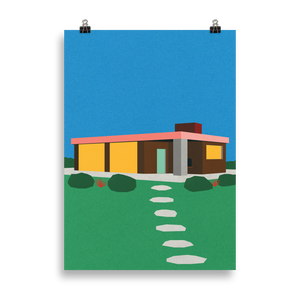 Poster Art Print Illustration – The Elster House