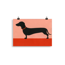 Load image into Gallery viewer, Poster Art Print Illustration – Dachshund Rosi