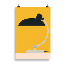 Load image into Gallery viewer, Poster Art Print Illustration – Bauhaus Table Lamp Kaiser Idell 6631