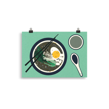 Load image into Gallery viewer, Poster Art Print Illustration – Breakfast At Mr. Chan