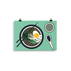 Poster Art Print Illustration – Breakfast At Mr. Chan