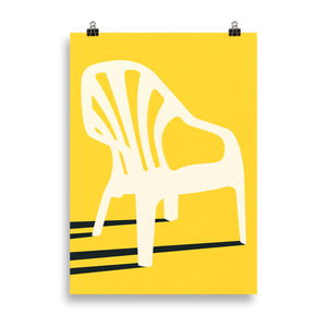 Poster Art Print Illustration – Monobloc Plastic Chair VI