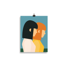 Load image into Gallery viewer, Poster Art Print Illustration – Two Sisters