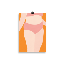 Load image into Gallery viewer, Poster Art Print Illustration – Woman With Pink Underwear