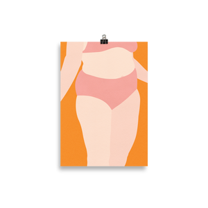 Poster Art Print Illustration – Woman With Pink Underwear