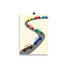 Load image into Gallery viewer, Poster Art Print Illustration – Traffic