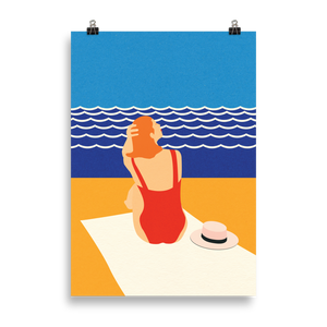 Poster Art Print Illustration – Still Summer