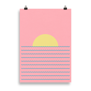 Poster Art Print Illustration – Every Day The Sun Rises