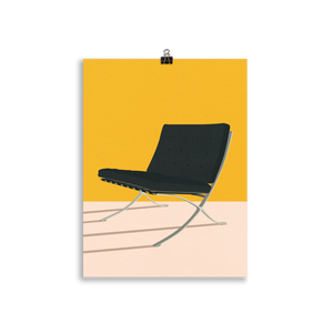Poster Art Print Illustration – Mies van der Rohe Barcelona Chair
