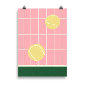 Poster Art Print Illustration – Tennis Kitchen